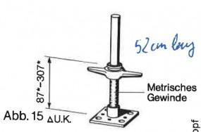 Hünnebeck Harsco ID15 Fußspindel 38 gebraucht (nur Export)