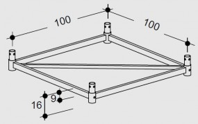 Hünnebeck-Harsco ID15 Endrahmen 10 gebraucht
