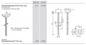 PERI Gelenkkopfspindel TR 38-70/50 gebraucht