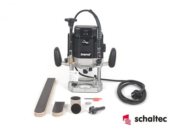 Oberfräse-Set für industr. Einsatz 2000 Watt Leistungsaufnahme