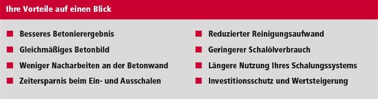 schaltec GmbH Vorteile der Schalungssanierung auf einen Blick